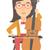 mujer · jugando · cello · Asia · rojo · notas · musicales - foto stock © rastudio