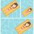 nadar · mulher · colchão · piscina · flutuante · amarelo - foto stock © rastudio