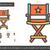 director chair line icon stock photo © rastudio