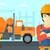 Cartoon · mezclador · camión · vector · eps10 · formato - foto stock © rastudio
