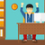 vetor · trabalhando · masculino · startup · negócio - foto stock © rastudio