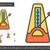 metronome line icon stock photo © rastudio
