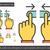 two hand unpinch line icon stock photo © rastudio