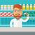 young pharmacy chemist man standing in drugstore stock photo © rastudio