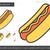 hot dog line icon stock photo © rastudio