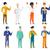 vector set of professions characters stock photo © rastudio