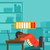 fáradt · alkalmazott · alszik · munkahely · kaukázusi · billentyűzet - stock fotó © rastudio