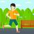 sportive man jogging stock photo © rastudio
