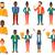 vector set of business characters stock photo © rastudio