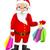 サンタクロース · 孤立した · グレー · 勾配 · ショッピング - ストックフォト © RAStudio