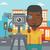 cameraman with movie camera on a tripod stock photo © rastudio