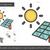 solar energy line icon stock photo © rastudio