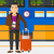 man standing with suitcase and holding ticket stock photo © rastudio