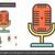 retro · microfone · linha · ícone · teia - foto stock © rastudio