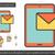 móvel · sms · linha · ícone · vetor · isolado - foto stock © rastudio