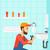 vízvezetékszerelő · megjavít · mosdókagyló · cső · franciakulcs · hipszter - stock fotó © rastudio