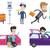 transportation vector set with people traveling stock photo © rastudio