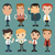 set of businessman characters poses office worker stock photo © ratch0013