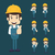 set of engineer characters poses stock photo © ratch0013
