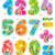 colorido · decorado · números · aritmética · signos · símbolos - foto stock © ratselmeister