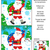winter holidays find the differences picture puzzle with santa klaus stock photo © ratselmeister
