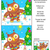 holiday find the differences picture puzzle with owl and garland stock photo © ratselmeister
