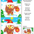 holiday find the differences puzzle with owl and santa cap stock photo © ratselmeister