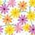 seamless gerbera daisy flowers pattern background stock photo © ratselmeister