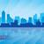 silhueta · cidade · Tennessee · cityscape · linha · do · horizonte · centro · da · cidade - foto stock © ray_of_light