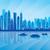 Dubai · sziluett · sziluett · naplemente · épület · utazás - stock fotó © ray_of_light
