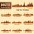 New · York · részletes · város · sziluett · épület · sziluett - stock fotó © ray_of_light