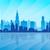 Chicago · városkép · részletes · sziluett · égbolt · város - stock fotó © ray_of_light