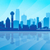 dallas city skyline silhouette background stock photo © ray_of_light