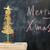 schoolbord · schrijven · vrolijk · christmas · witte · Blackboard - stockfoto © raywoo