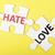 szeretet · gyűlölet · piros · zöld · utca · feliratok - stock fotó © raywoo