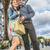 Reise · Touristen · Paar · Eiffelturm · Paris · lächelnd - stock foto © razvanphotography
