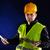 jovem · engenharia · laranja · capacete · trabalhando - foto stock © razvanphotos