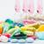 tabletták · lövés · egészség · gyógyszer · fehér · citromsárga - stock fotó © razvanphotos