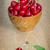 tigela · doce · cereja · alegre · velho · mesa · de · madeira - foto stock © razvanphotos
