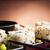 traditional japanese food sushi closeup japanese sushi on a bam stock photo © razvanphotos
