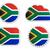 África · do · Sul · bandeira · isolado · branco · fundo · assinar - foto stock © rbiedermann