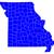 Missouri · harita · ABD · kırmızı · renk · seyahat - stok fotoğraf © rbiedermann