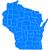 harita · Wisconsin · mavi · model · ABD · kare - stok fotoğraf © rbiedermann