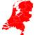 térkép · Hollandia · zöld · utazás · keret · izolált - stock fotó © rbiedermann