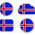 Исландия · флаг · Этикетки · бумаги · дизайна · знак - Сток-фото © rbiedermann