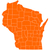 Wisconsin · harita · örnek · ABD · seyahat · renk - stok fotoğraf © rbiedermann