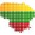 kaart · vlag · Litouwen · achtergrond · reizen · cirkel - stockfoto © rbiedermann