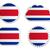 Costa · Rica · vlag · papier · teken · knop - stockfoto © rbiedermann