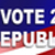 Republican election Sticker for 2016 stock photo © rcarner