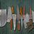 establecer · cuchillos · cuchillo · metal · cocina - foto stock © reddaxluma